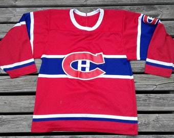 Vintage 90's Montreal Canadiens CCM Maska Made in Canada Red Jersey