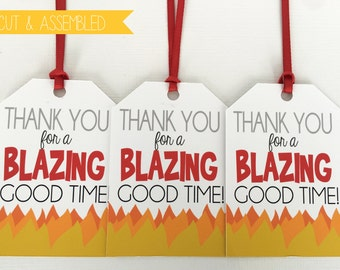 Fire Truck Favor Tags - Firefighter Favor Tags  - Fire Truck Tag - Firetruck Birthday - Firetruck Party Favor - Fireman Party Decor