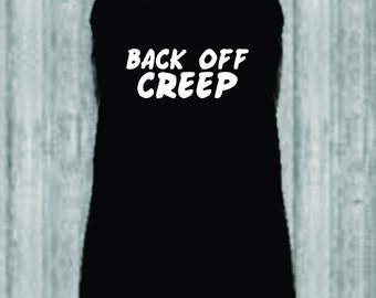 Back Off Creep - Ladies Racerback