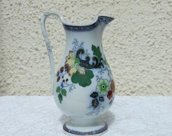 Antique Transfer Printed Pottery Jug - Probably Scottish