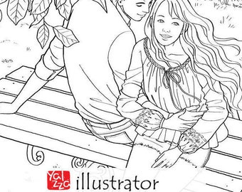 Romance - Free Coloring Pages