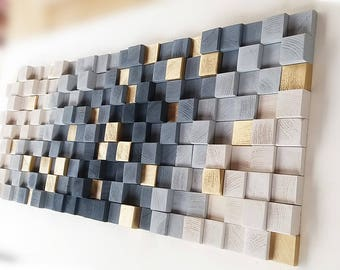 Genial Wall Art, Wooden Wall Decor, Wood Wall Sculpture, Rustic Wooden Mosaic,  Modern