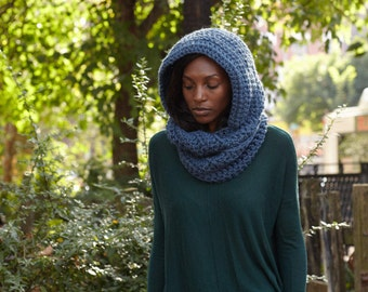 Hooded Scarf / Infinity Scarf Chunky / Custom Color // THE ROSEMARY Free Shipping Holiday Gifts for Women