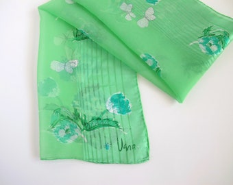 Vera Neumann Lime Green Scarf, 1960s Accessories