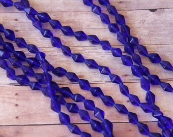 Vintage Cobalt Blue African Trade Beads - OAG 138