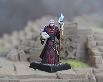 Hand Painted Khalib Runelord Apprentice Reaper Miniature Human Male Wizard Mage Scribe Healer Cleric Role Play Character RPG Miniature