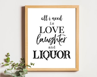 Drinks sipper gifts,liquor wine print,fun wine quote print,liquor print wall art,wine lover gifts,girls apartment decor,bar decor printable