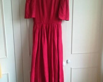 Stunning LANVIN PARIS VINTAGE 1980's Dress