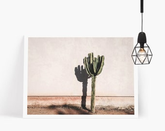 Desert Cactus Printable, Cactus Wall Decor, South Western Wall Art, Cactus Poster Instant Download, Boho Decor, Nature Art, Desert Decor