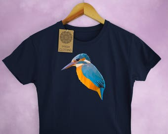 Kingfisher Low Poly Ladies T-Shirt