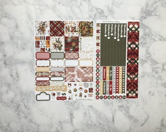 Mini Happy Planner Weekly Sticker Kit - Holly Jolly