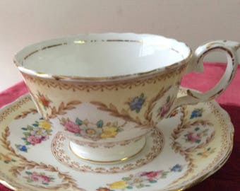CLEARANCE Crown Staffordshire Cup and Saucer  Fine Bone China  Vintage   #312