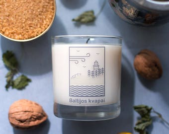 CANDLE Scented from NATURAL SOYA wax 180g