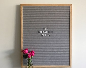 """Premium grey felt letterboard with interchangeable letters - 24"""" x 30"""" - FREE CANADA SHIPPING!"""