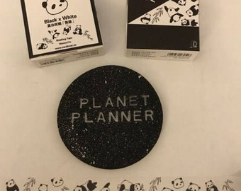 Panda Washi Tape, Panda Washi, Panda Stationery, Black & White Washi, Monochrome Washi Tape, Cute Washi Tape, Kawaii Washi Tape.
