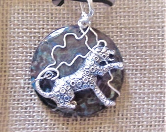 Cheetah Pendant, Cheetah Necklace, Cheetah,   Leopard  Jewelry,  Necklace  ,Pendan,t   Animal Spirit,  Totem, Cheetah Spirit, Animal Jewelry