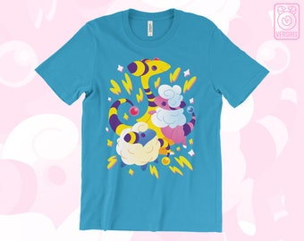 Mareep Flaafy Ampharos T-SHIRT Electric Sheep // Pokemon Johto // 2nd Gen // Electric Type // Mens & Womens Sizes // Gamer Gifts