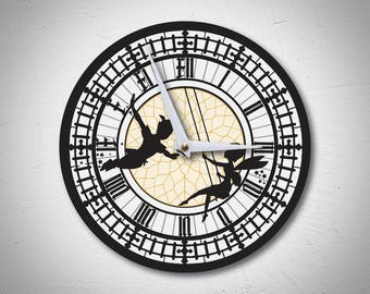 Peter Pan Clock - Unique Wall Clocks - Disney Clock - Big Ben - Gifts for Kids - Gifts for Babies - Gifts for Children - MadMadeWorld