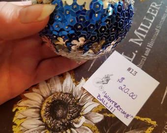 """Sequin Ornanent Ball Handmade 3"""""""