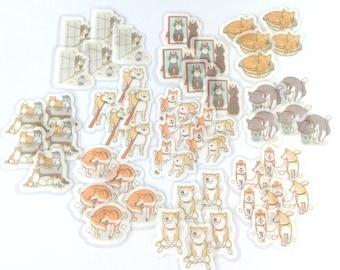 Cat sticker,Dog sticker,Fkake sticker,Washi sticker,Die-cut sticker,Japanese sticker from Japan