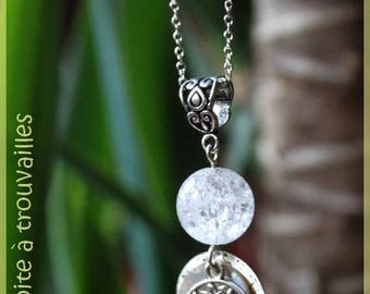 Necklace 'The tree of dreams' and its rock crystal
