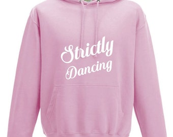 iLeisure Girls Strictly Dancing Hooded Top with White/Black Print