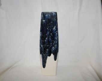 Midnight Sky Drip Rectangular Vase