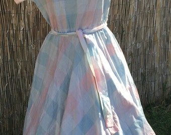 1970s fit and flare dress.  XL Volup fit