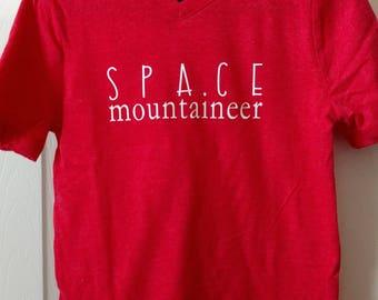 """4T Toddler VNeck """"Space Mountanieer"""""""