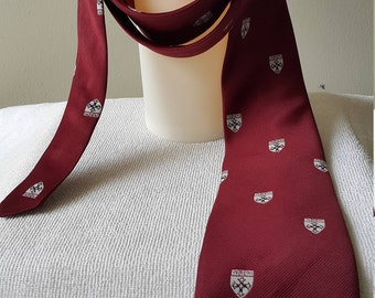 Harvard tie by Rivetz of Boston Made in the US Maroon colour