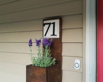 Address Planter, House Number Sign, Address Sign, Address Plaque