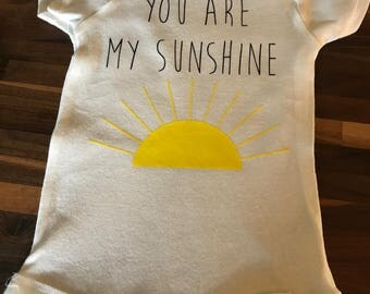 You are my sunshine baby onesie
