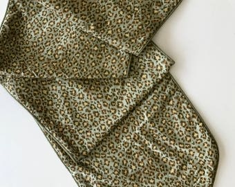 Silk Table Runner in Animal Print Pattern