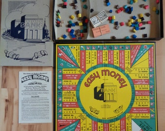 Vintage EASY MONEY Milton Bradley Board Game 1936 - Nice, COMPLETE!