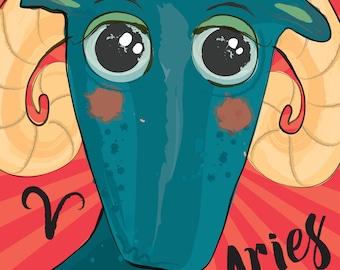 ARIES - Zodiac Art Print