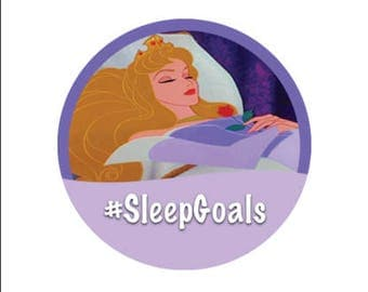 Sleeping Beauty Button - Sleep Goals Button - Disney Park Button - Purple Princess Button - Aurora Button - Princess Pin - Disney Park Pin