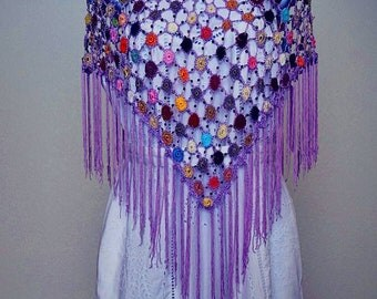 Vintage 1920's Style Crochet Shawl