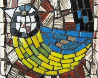 Bird wall art mosaic