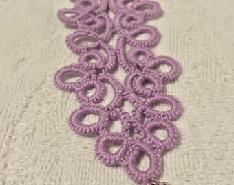 Purple tatted bracelet