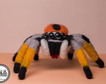 Jumping Spider Philaeus Chrysops felt Doll
