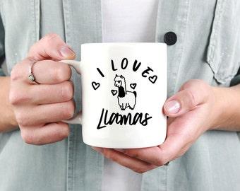 I Love Llamas Mug   Llama Mug   Funny llama mug   llama gift   Animal mug   Alpaca Mug   Mama llama   Spirit animal