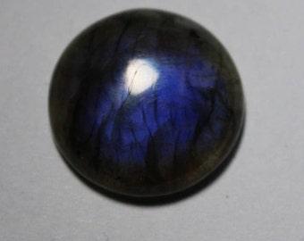 Natural Labradorite Cabochon, Dark Blue Labradorite Gemstone, Labradorite loose stone, Spectrolite Labradorite loose gemstone [22x22]#235