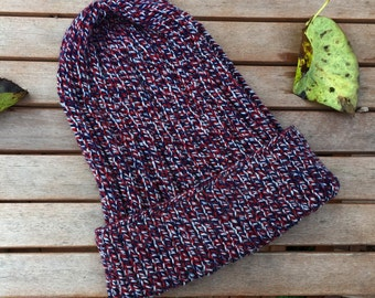 Hand Knitted Colourful Woolly Hat