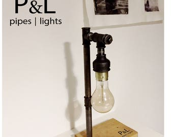 "Edison Lamp ""104"" in grey/Black incl. Edison bulb/Tube lamp/Table Lamp"
