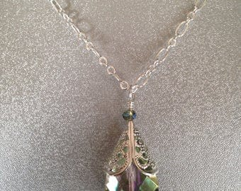 Tear Drop Pendant Necklace, Tear Drop Bead Pendant necklace