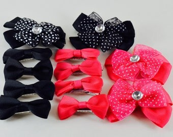 "12 pcs, 2"" bow Alligator clip, hair bows, baby girls hair bow, hair bows for babies, hair bows for girls"