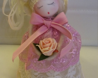 Angel in hand made fabric
