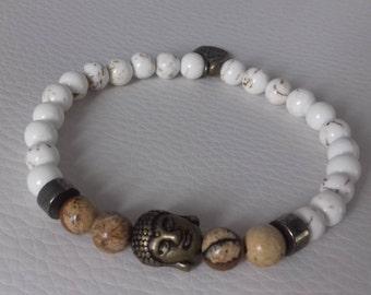 Jasper and Buddha bracelet