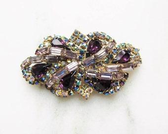 Vintage Juliana Purple Aurora Borealis Brooch