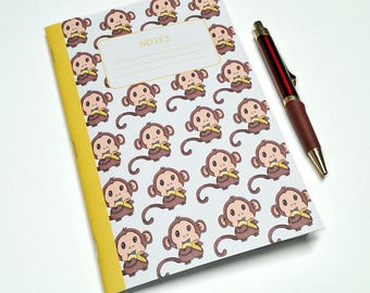 Baby Monkey Notebook - Journal - School Notebook - Bullet Journal - Note Book - Notebook - Monkey Notebook for Kids